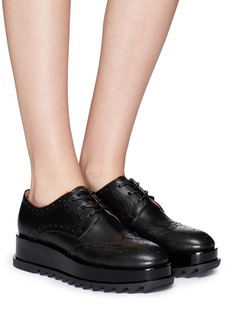 Pedder Red 'Lester' leather brogue platform derbies