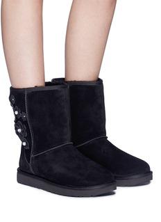 Ugg Australia 'Classic Short' floral appliqué boots