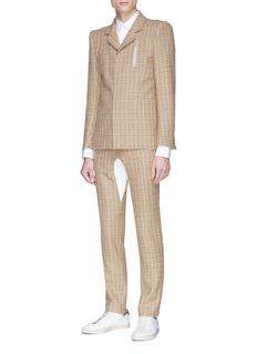 8ON8 Jersey panel tartan plaid pants