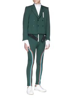 8ON8 Stripe sleeve belted soft blazer