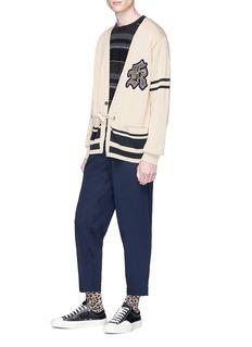kolor 'K' appliqué stripe cardigan