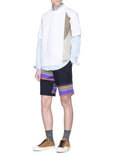 kolor Stripe panel shorts