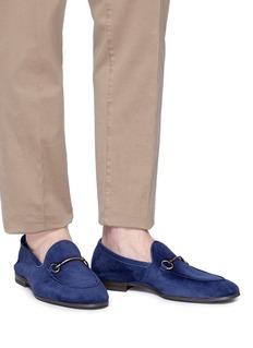 HENDERSON 金属搭带绒面真皮乐福鞋