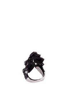REPOSSI 'Raani Crown' diamond 18k black gold ring