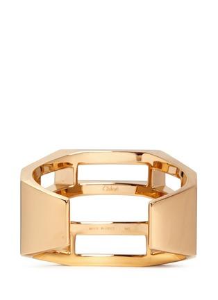 Back View - Click To Enlarge - Chloé - 'Bianca' geometric cutout cuff