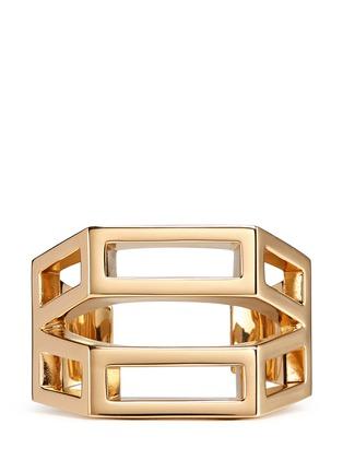 Main View - Click To Enlarge - Chloé - 'Bianca' geometric cutout cuff