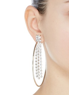 Joomi Lim 'Mad Maximalism' Swarovski crystal fringe large hoop earrings