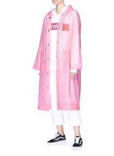 Proenza Schouler PSWL graphic print anorak raincoat