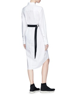 Proenza Schouler PSWL cross belt poplin shirt dress