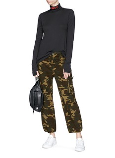 Proenza Schouler PSWL camouflage print cotton twill military cargo pants