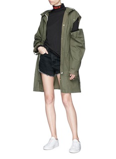 Proenza Schouler PSWL detachable sleeve hooded military coat