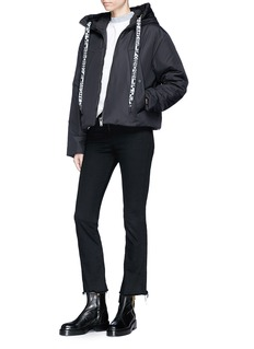 Proenza Schouler PSWL graphic drawstring puffer jacket