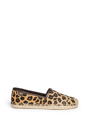 Main View - Click To Enlarge - Tory Burch - 'Mckenzie' leopard print calf hair espadrilles