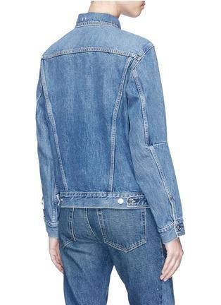 Back View - Click To Enlarge - Proenza Schouler - PSWL drawstring denim jacket