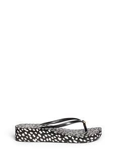 TORY BURCH 'Thandie' dot print wedge flip flops
