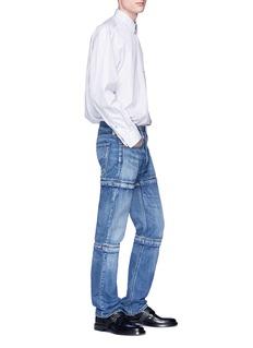 BALENCIAGA 拼接设计水洗牛仔裤