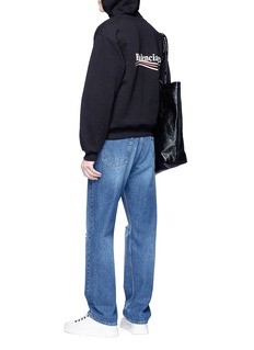 BALENCIAGA 品牌名称及波浪条纹连帽卫衣