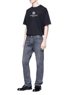 BALENCIAGA BB Balenciaga Mode印花纯棉T恤