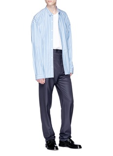 Balenciaga Pinstripe virgin wool-silk pants