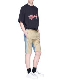 Balenciaga Denim panel twill shorts