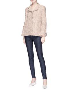 Lanvin Frayed tweed coat
