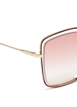 Detail View - Click To Enlarge - Chloé - 'Poppy' metal butterfly sunglasses