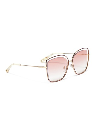 Figure View - Click To Enlarge - Chloé - 'Poppy' metal butterfly sunglasses