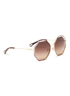 10676 'Poppy' metal octagon sunglasses