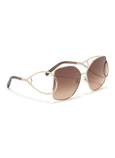 Chloé 'Jackson' metal square sunglasses