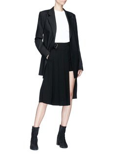 Neil Barrett Pleated layered asymmetric skirt
