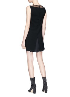 Neil Barrett Sheer panel crepe dress