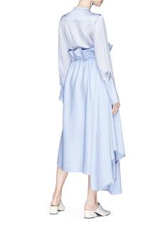 Roksanda 'Micah' ruffle drape panel silk satin maxi dress