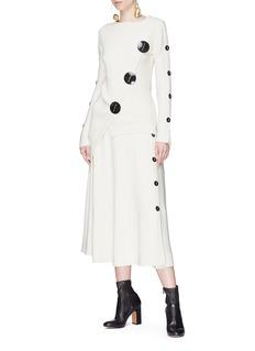 Roksanda 'Temir' asymmetric placket wool blend sweater