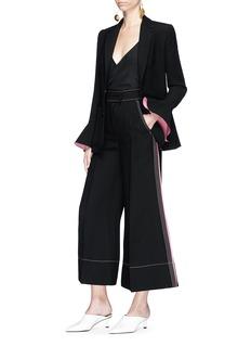 ROKSANDA Riva喇叭袖口斜纹布西服夹克