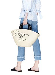 Eugenia Kim 'Carlotta Dream On' embroidered straw tote bag