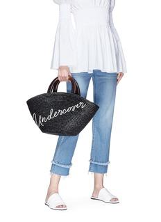 Eugenia Kim 'Carlotta Undercover' embroidered straw tote bag