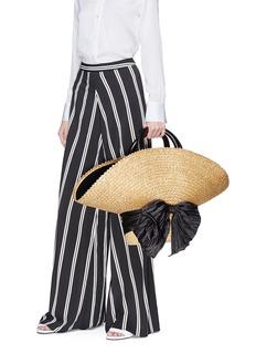 Eugenia Kim 'Flavia' bow straw hat bag
