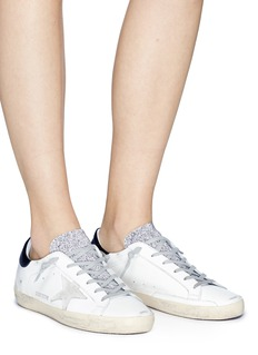 Golden Goose 'Superstar' glitter tongue brushed leather sneakers