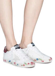 Golden Goose 'Superstar' floral print calfskin leather sneakers