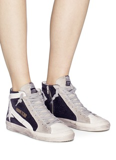 Golden Goose 'Slide' glitter suede high top sneakers