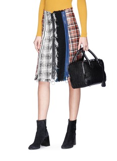 Golden Goose 'Equipage' woven leather top handle bag
