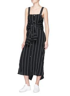 The Keiji 两种穿法条纹衬衫裙