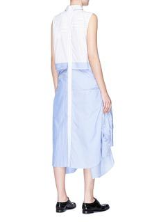 The Keiji Double placket colourblock stripe panel shirt dress