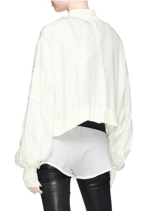 Back View - Click To Enlarge - Ben Taverniti Unravel Project  - Cropped silk sateen bomber jacket