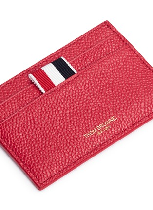 Detail View - Click To Enlarge - Thom Browne - Pebble grain leather card holder