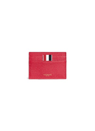 Main View - Click To Enlarge - Thom Browne - Pebble grain leather card holder