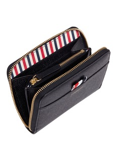 Thom Browne Pebble grain leather zip wallet