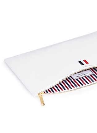 Detail View - Click To Enlarge - Thom Browne - Pebble grain leather document holder