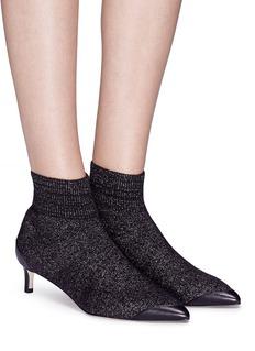 Pedder Red 'Jake' Lurex knit ankle sock boots