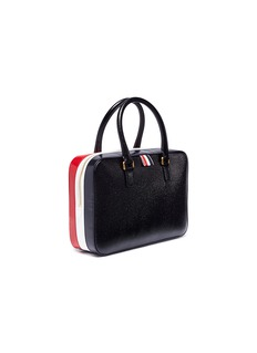 Thom Browne Stripe pebble grain leather business bag